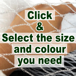 4m wide 30GSM bird netting